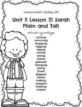Journeys Grade 3 Spelling Lists Unit 5 (Melonheadz Edition)