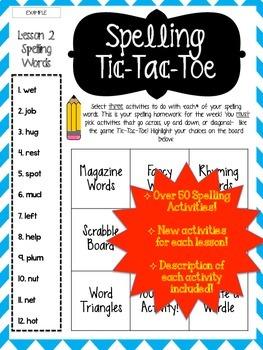 Journey's Grade 3 Unit 1 Lessons 1-5 Spelling Tic-Tac-Toe