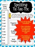 Journey's Grade 3 Unit 2 Lessons 6-10 Spelling Tic-Tac-Toe