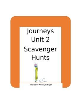 Journeys Grade 3, Unit 2 Study Guides/Scavenger Hunts