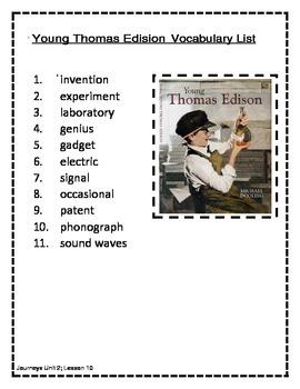 Journeys  Grade 3 ,Unit 2,  lessons 6 - 10 Spelling/Vocabulary List