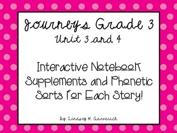 Journeys Grade 3 Unit 3 and 4 Supplement