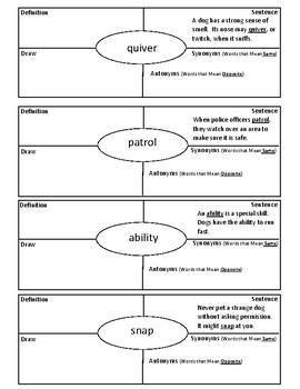 Journeys Grade 3 Vocabulary 4 Square Lesson 14 - Aero & Officer Mike