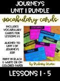 Journeys Grade 3 Vocabulary Cards Unit 1 BUNDLE