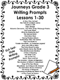 Journeys Grade 3- Writing Prompts Bundle-Lessons 1-30