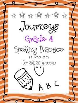 Journeys - Grade 4-  3x each (all 30 lessons)