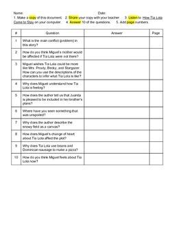 Journeys Grade 4 Comprehension Questions