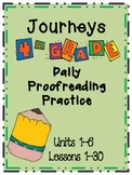 Journeys Grade 4 Daily Proofreading Practice