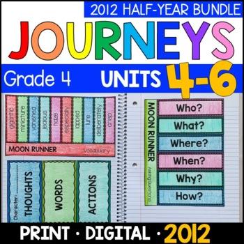 Journeys Grade 4 HALF-YEAR BUNDLE: Unit 4-6 - Supplemental/Interactive 2011/2012