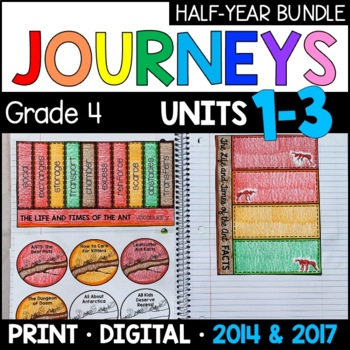 Journeys Grade 4 HALF-YEAR BUNDLE: Units 1-3 (Supplemental & Interactive pages)
