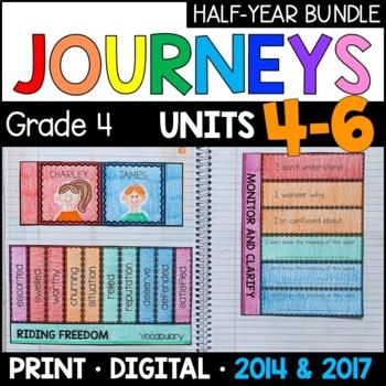Journeys Grade 4 HALF-YEAR BUNDLE: Units 4-6 (Supplemental & Interactive pages)