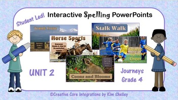 Journeys Grade 4 Interactive Spelling PPTs WHOLE YEAR BUNDLE