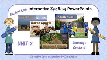Journeys Grade 4 Interactive Spelling Unit 2 BUNDLE Lists 6 to 10