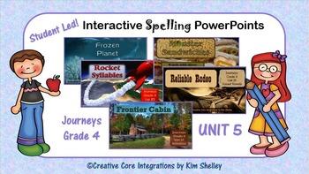 Journeys Grade 4 Interactive Spelling Unit 5 BUNDLE Lists 21 to 25