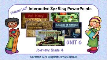 Journeys Grade 4 Interactive Spelling Unit 6 BUNDLE Lists 26 to 30