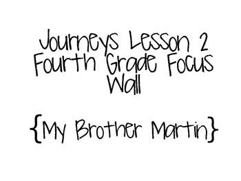 Journeys Grade 4 Lesson 2 Focus Wall