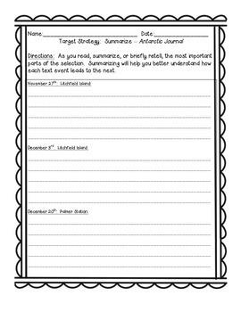 Journeys Grade 4 Supplemental Center Activities: Antarctic Journal