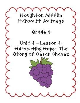 Journeys Grade 4 Supplemental Center Activities: Harvesting Hope