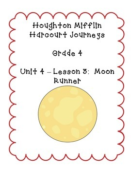 Journeys Grade 4 Supplemental Center Activities: Moon Runner