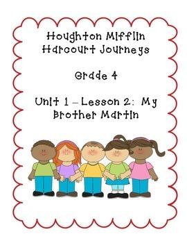 Journeys Grade 4 Supplemental Center Activities: My Brother Martin