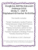 Journeys Grade 4 Supplemental Center Activities: Unit 4 Bundle