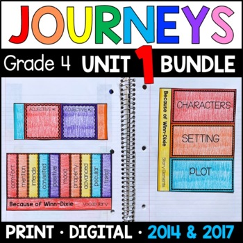 Journeys 4th Grade Unit 1 BUNDLE: Supplemental Materials w