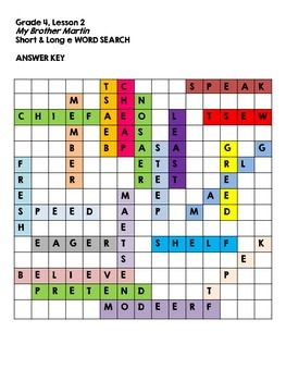 Journeys Grade 4 Unit 1 Spelling Word Searches