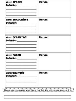 Journeys Grade 4 Unit 1 Vocabulary Quilts