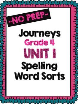Journeys Grade 4 Unit 1 Word Sort Bundle