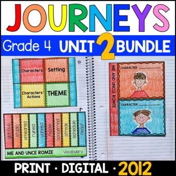Journeys Grade 4 Unit 2 BUNDLE: Supplemental & Interactive Materials (2011/2012)