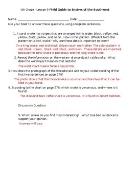 Journeys Grade 4 Unit 2 Secondary Texts Comprehension