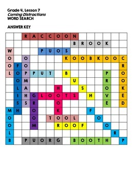 Journeys Grade 4 Unit 2 Spelling Word Searches