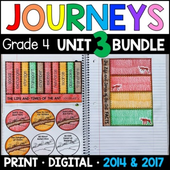 Journeys Grade 4 Unit 3 BUNDLE: Supplemental Materials wit