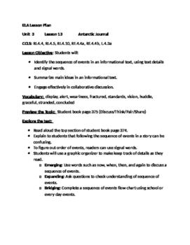 Journeys Grade 4 Unit 3 Lesson 13