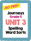 Journeys Grade 4 Unit 3 Spelling Word Sorts
