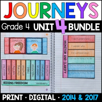 Journeys Grade 4 Unit 4 BUNDLE: Supplemental Materials with Interactive pages