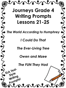 Journeys Grade 4-Unit 5-Lessons 21-25 Writing Bundle