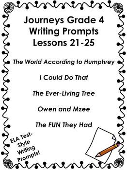 Journeys Grade 4-Unit 5-Lessons 21-25 Writing Bundle