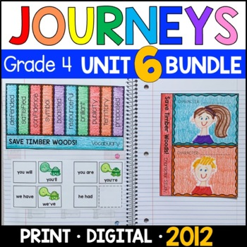 Journeys Grade 4 Unit 6 BUNDLE: Supplemental & Interactive Materials (2011/2012)