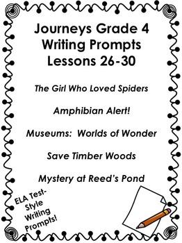 Journeys Grade 4-Unit 6-Lessons 26-30 Writing Bundle