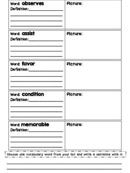 Journeys Grade 4 Unit 6 Vocabulary Quilts