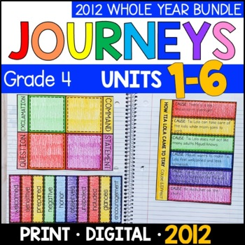 Journeys Grade 4 WHOLE YEAR BUNDLE: Interactive Supplements 2011/2012
