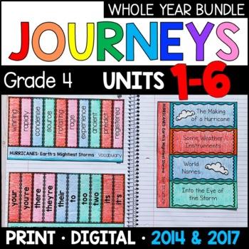 Journeys Grade 4 WHOLE YEAR BUNDLE: Interactive Supplements 2014/2017