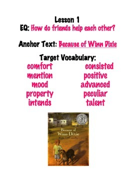 Journey's Grade 4 Word Wall with vocabulary words and Esse