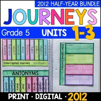 Journeys Grade 5 HALF-YEAR BUNDLE: Unit 1-3 - Supplemental