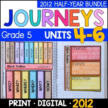 Journeys Grade 5 HALF-YEAR BUNDLE: Unit 4-6 (Supplemental/Interactive 2011/2012)