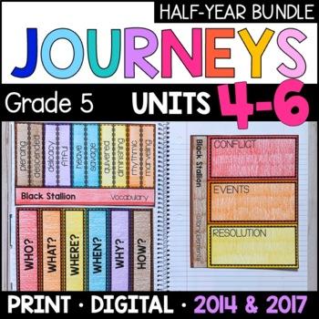 Journeys Grade 5 HALF-YEAR BUNDLE: Units 4-6 (Supplemental & Interactive pages)