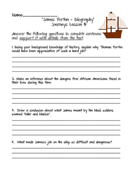 Journeys Grade 5 Lesson 14 - James Forten - Now Is The Time