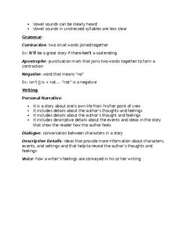Journeys Grade 5 Lesson 20 notes & vocab