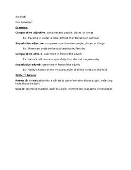 Journeys Grade 5 Lesson 24 notes & vocab